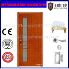 Puerta de madera sólida barata interior única moderna china