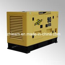 Toldo silencioso refrigerado por agua del generador diesel (GF2-90kVA)