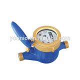 brass body multi jet liquid sealed water meter R160 MID certificated