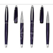 New Dark Blue Slim Metal Gift Pens para Promoção