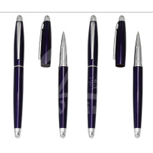 Nouveaux stylos cadeau en métal bleu foncé pour promotion