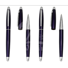 New Dark Blue Slim Metal Gift Pens for Promotion