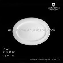 P069 Louça de mesa japonesa para restaurantes e prato de servir de porcelana