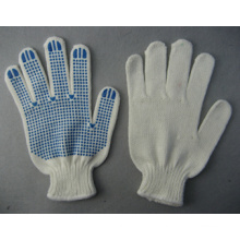7g White Angora Yarn String Knitting Work Glove PVC Dots (2481)