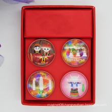 Wholesale Glass Dome Magnet / Crystal Fridge Magnet / 3D Fridge Magnet