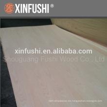 3.6 sola madera contrachapada de roble rojo producida en la ciudad de Linyi China