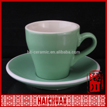 New classical shape 160cermaica set of 6 tea cup and saucer ,small coffee cup and saucer set