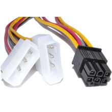 Cable de 6 pines PCI Express a 2X de 3 pines Molex Power Adapter