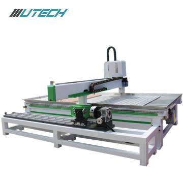 cnc router woodworking แกน 4 แกนพร้อมเพลาหมุน