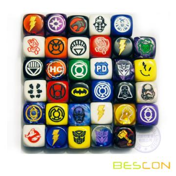 High Quality Durable Custom Logo Engraving Board Game Dice 16MM