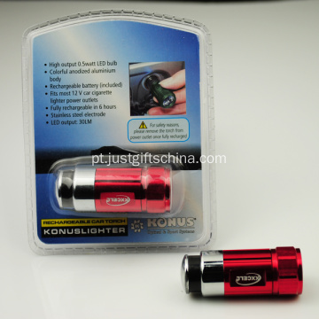 Promocionais Mini Car Charging Torch Alumínio Made