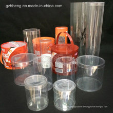 OEM-Zylinder-Kunststoff-Verpackungsbox (transparentes klares Rohr)