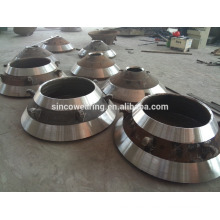 High Manganese Casting Steel Cone Crusher Spare Parts -- Concave and Mantle
