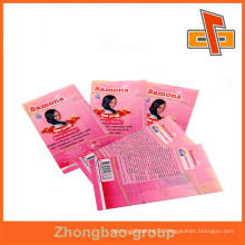 PVC material plastic shrink wrap with super high quality print for hair cream