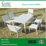 glass dining table 6 chairs set (DA1089)
