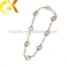 Кольцо ожерелья цветка ювелирных изделий серебра оптовой продажи нержавеющей стали серебряное