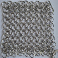 316L 6*8inch stainless steel chainmail dish scrubber