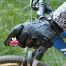 Negro muñeca de piel de oveja hombre conducir guantes de cuero en aliababa