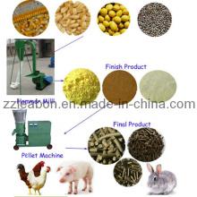 Matériel de traitement des aliments pour petits pains d'alimentation de la petite ferme 500kg / H Broyeur à grain de particules de 3-5mm
