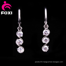 Handmade CZ Gems Fashion Design Hanging Earrings
