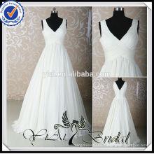 RSW532 cuadros de los vestidos de boda de la gasa para las novias embarazadas