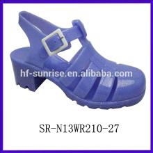 SR-N13WR210-9 (2) sandales à talons hauts sandales en plastique sandales en gros grosses gelées
