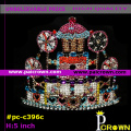 Ab colors castle christmas pageant tiara crown