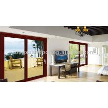 Porte coulissante en aluminium intérieur, portes coulissantes en verre Portes de chambre à coucher Portes de salon