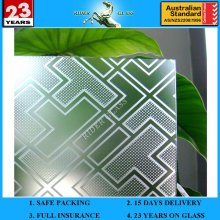3-6mm Am-25 Decorative Acid Etched Frosted Art Architectural Glass