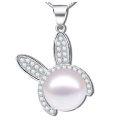 Модные ювелирные изделия Пресная вода Перл 925 Серебряные подвески Ожерелье Оптовые продажи