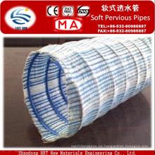 Manguera flexible de drenaje para muro de contención