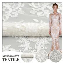 Fabricación profesional tul boda personalizada nuevo diseño de bordado cordaje