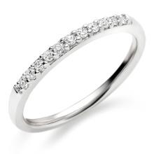 Anel de diamante de meia fileira 925 Jóias de prata esterlina