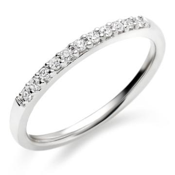 Bague à diamant demi-rangée Bague en argent sterling 925