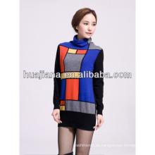 100% Kaschmir Frauen geometrische Pullover