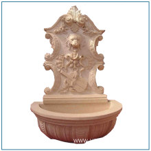 Nature Stone Outdoor Lion Head Wall Fountain
