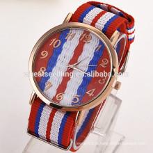 Bandeira de mulheres genebra quartzo belas senhoras relógios novo