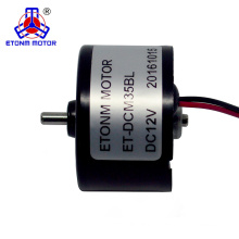 pancake dc brushless motor 35mm diameter 12v 24v