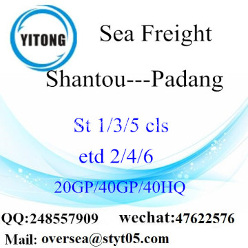 Shantou Port Sea Freight Shipping ke Padang