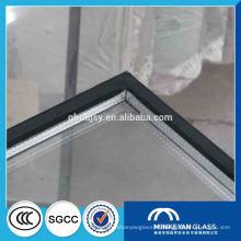 Double verre transparent commercial de porte et verre de mur rideau