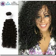Atacado 100% Cabelo Brasileiro Virgem Bundles Kinky Curly Cabelo Humano Cor Natural Do Cabelo Humano