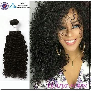 Оптовая 100% Виргинские Бразильские Пучки Волос Кудрявый Вьющиеся Человеческих Волос Естественный Цвет Человеческих Волос