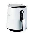 Freidora de aire eléctrica de 2.6L / 3.6L, control de temperatura, freidora saludable sin aceite, cable de alimentación, almacenamiento manual, freidora de aire mecánica