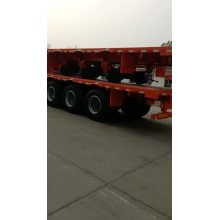low flatbed trailer lowbed truck semi trailer