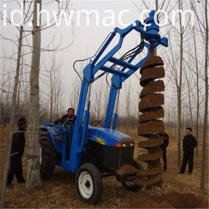 Tractor pile driver6