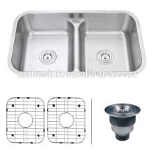 33 inch cUPC Stainless Steel Undermount Low Divider Kitchen Sink with double bowl