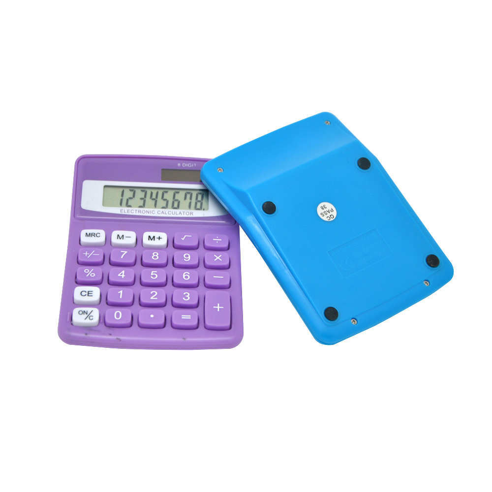Customized Dual Power 8 Digits Desktop Calculator