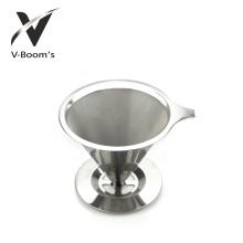 Aço inoxidável despeje sobre o gotejador de café