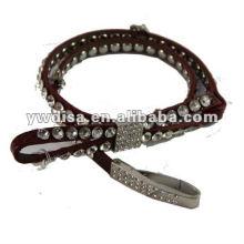 Cinturón de cuero rojo para mujer