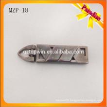 MZP18 Custom suitcase nice metal zinc alloy zip puller for wallet